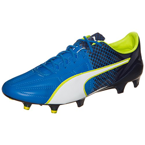 Puma Herren Evospeed 1.5 Lth Fg Fußballschuhe Electric Blue Lemonade-Puma White-Peacoat