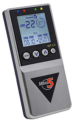 elettrostimolatore muscolare Tesmed Max5 - 4 canali -batteria ricaricabile- tonificazione, rassodamento, drenaggio, modellamento, addominali, cellulite