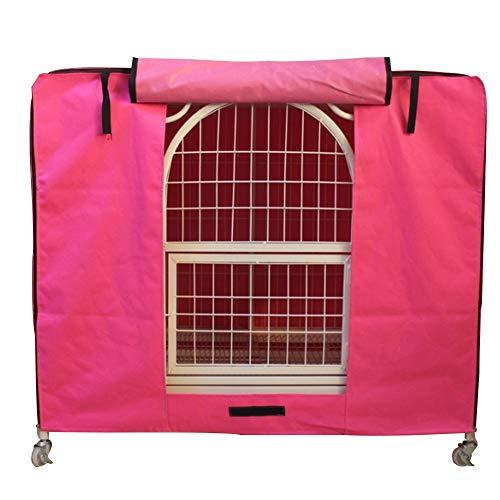 SHJP Hundekäfig-Abdeckung für Hundekäfig, Belüftet Strapazierfähig universell passend für Innen- und Außenbereich, leicht anzubringen, abzunehmen und anzupassen,Rosa,XXL