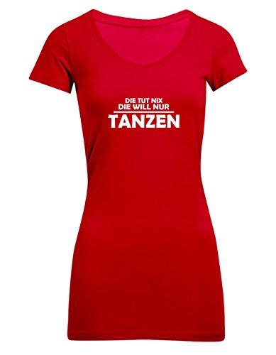 Die tut nix, die will nur Tanzen, Frauen T-Shirt Extra Lang - ID104200 cherryberry