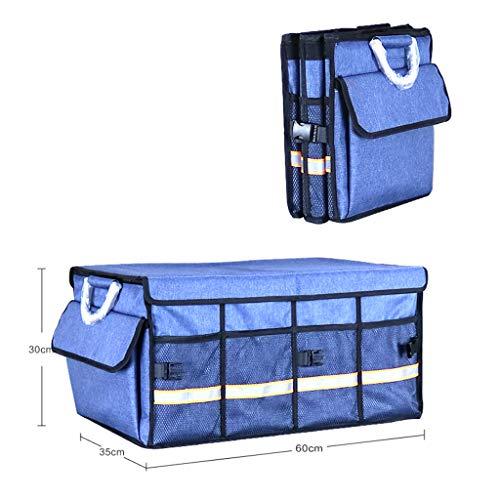 Cassiel Y Boîte De Rangement pour Voiture - Facile À Nettoyer, Pliable, Poignée en Aluminium (Bleu),#2