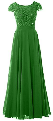 MACloth - Robe - Trapèze - Manches Courtes - Femme Vert