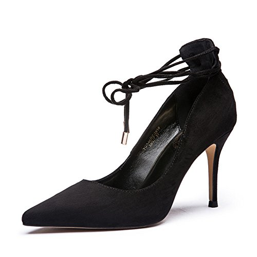 Lady Scrubs à la lumière d'automne a fait bow chaussures à talon sangle/Chaussures à talons hauts A