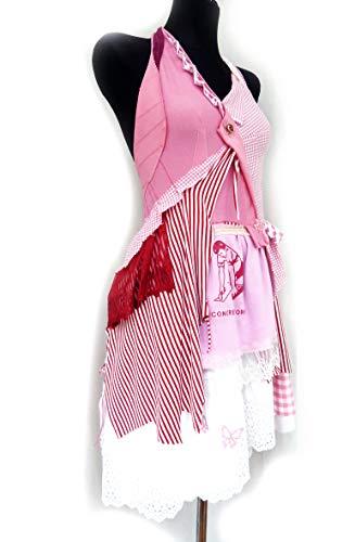 Kleid *Erdbeersorbet* 36, pink, rot, upcycling