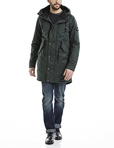 Bench Winsome, Giubbotto Uomo, Grün (Darkest Green GR214), Medium