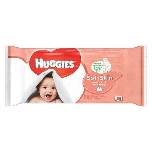 Huggies Soft Skin Baby Wipes – 1 Pack (56 Wipes Total) 41ueUHnWIqL