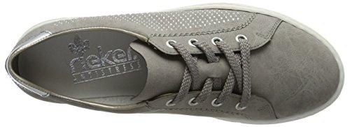 Rieker Damen L0911 Sneakers Grau (staub/Argento / 42)