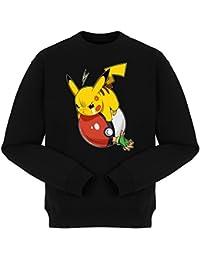 Pull Jeux Vidéo - Parodie Pikachu et Sasha de Pokémon - VENGEANCE !!! :) - Pull Noir - Haute Qualité (777)