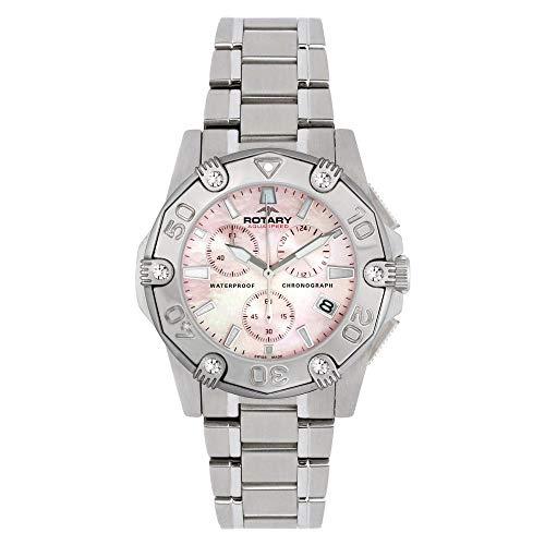 Rotary Damen Automatik Uhr Mit Leder Armband ALB90033/C/07