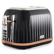 Breville Impressions 2-Slice Toaster with High-Lift & Wide Slots | Black & Rose Gold [VKT957]