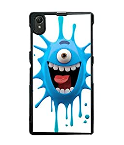 Printvisa one eyed blue monster cartoon character Back Case Cover for Sony Xperia Z1::Sony Xperia Z1 L39h