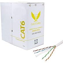 200 Metros - Cable CAT6 UTP 24AWG Gris Rigido Network Ethernet RJ45