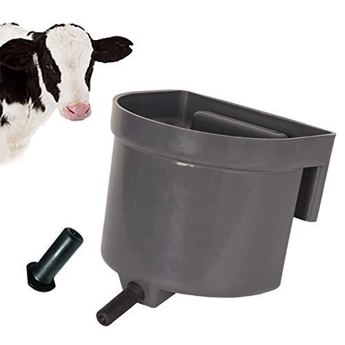 Arzja 4L Vitello Latte Capezzolo Biberon per Vitello Plastica Vitello Alimentazione Latte Alimentatore con Tettarelle