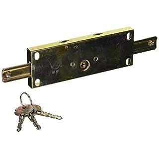 Sourcingmap Schloss für Rolltor/Garage aus Metall, kreuzförmige Schlüssel, goldfarben