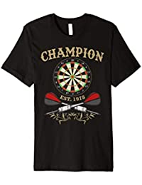 Dart Champion Team Shirt Dart Spieler T-Shirt Dartscheibe