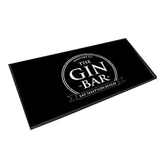 Artylicious die Gin Bar, die Kreis Eat Sleep Gin Repeat, Runner Fußmatte Bar