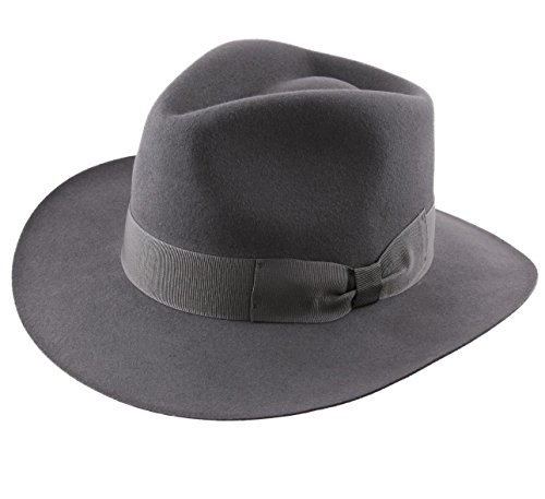 Classic Italy - Chapeau Fedora imperméable Large Bord - 4 Coloris - Homme ou Femme Heritage Fedora