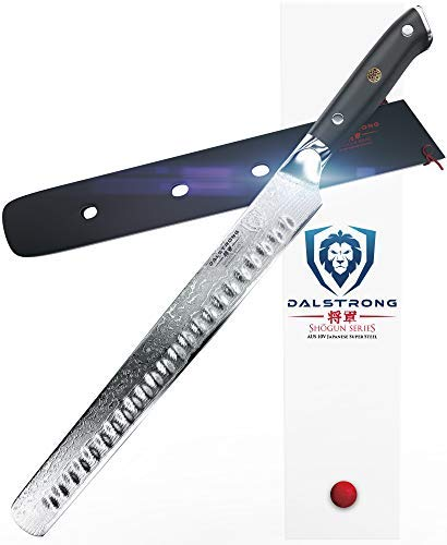 Dalstrong Tranchiermesser - Granton Schliff - Shogun Series - AUS-10V - Vakuumbehandelt - Slicing Carving Knife 30,5 cm - Mit Messerscheide Slicing Knife