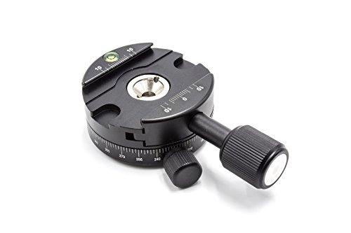 vhbw Stativkopf-Schnellwechselplatte rund, drehbar, mit Wasserwaage (Schiebe-platte Adapter)