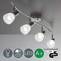 4 X 5 W LED Leuchtmittel L Decken Lampe I Spot Wohnzimmerlampe I Decken Leuchte  I Matt Nickel I Chrom I 230 ...