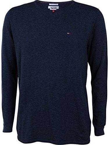 Tommy Hilfiger Denim Herren Sweater Basic L/S 17, Größe:S, Farbe:Dark Blue (420)