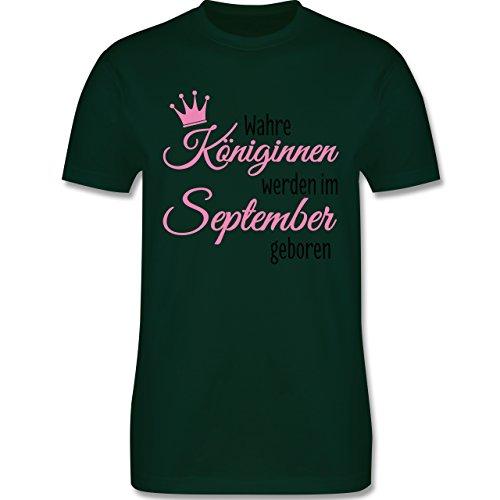 Geburtstag - Wahre Königinnen werden im September geboren - Herren Premium T-Shirt Dunkelgrün