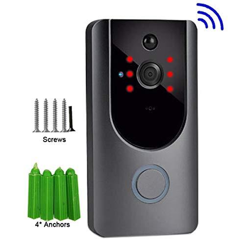 Jinxuny Türklingel Video Türklingel 720P Kabellose Video-Türsprechanlage WiFi Remote-Kommunikationserkennung elektronischer High-Definition-Monitor Nachtsicht - 720p High-definition Video
