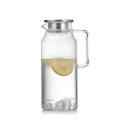 ZHAOJING Verre résistant à la chaleur Bouteille d'eau froide Set Ménage 2 litres grande capacité tasse théière empilée tasse de bouteille d'eau