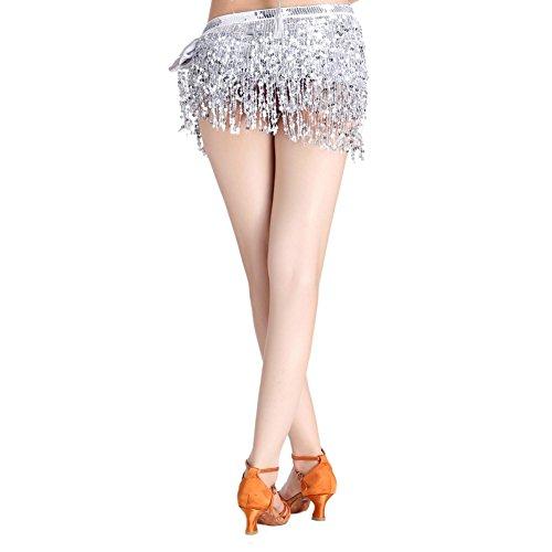 anz Pailletten Bh Tops Einheitsgröße Frauen Latin Dance Quaste Bh Kostüm (Damen Latin Dance Kostüme)