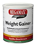 Megamax Weight Gainer Vanille 1, 5 kg mit nur 0, 5% Fett