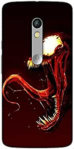 Snoogg Monster Hard Back Case Cover Shield For Motorola X Play