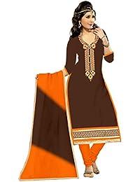 MAHI FASHION Women's Cotton Dress Material (MF33_Free Size_Multi-Coloured)