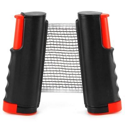 Portable rétractable Rack net de tennis de table net Rack Ping Pong Kit de rechange-Noir + rouge