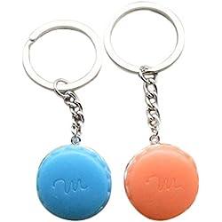 Oyfel Llavero Macaron Color Aleatorio Regalo Metal alliages de Coche Bolsa teléfono Cartera 2pcs