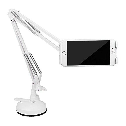 Soporte Tablet Teléfono móvil, iCasso Brazo de metal Sostenedor Flexible Multi-Ángulo stand...
