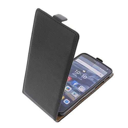 foto-kontor Tasche für Alcatel One Touch Pop 4 Plus Smartphone Flipstyle Schutz Hülle schwarz