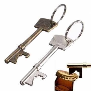 Bheema-Portachiavi apribottiglie a forma di chiave, in metallo