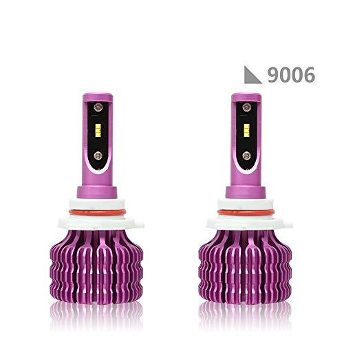 ACCDUER 10000LM LED Phare Ampoules de Conversion Kits COB Puce Super Bright 36W 6500K Auto Ampoule Frontale Voiture Phare-2 Pack,9006
