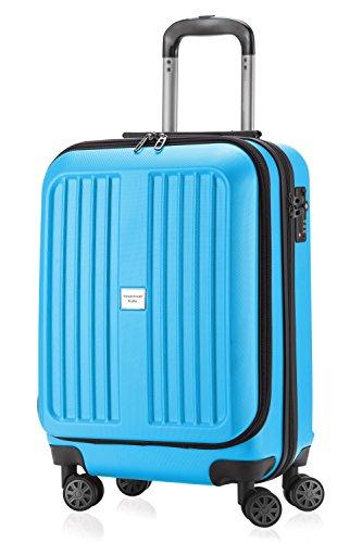 HAUPTSTADTKOFFER X-Berg - Bagaglio a mano rigida, Trolley da cabina, Borsa porta Laptop 55 cm, 42 Litri, Ciano