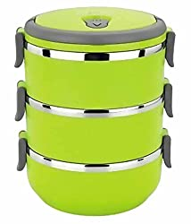Topware Hengli Stainless Steel 3 Layer Lunch Box (Green)