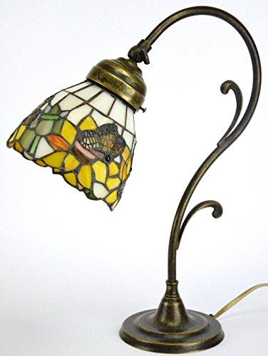 Lampada ottone brunito da tavolo,scrivania,lampade usato  Spedito ovunque in Italia