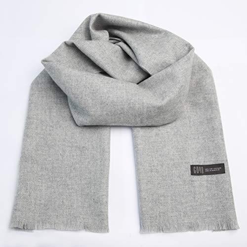 Goyo Cashmere Damen Schal aus 100% reinem Kaschmir, Reisetasche und Schal aus Kaschmir - Grau - Einheitsgröße - 100% Mongolische Cashmere