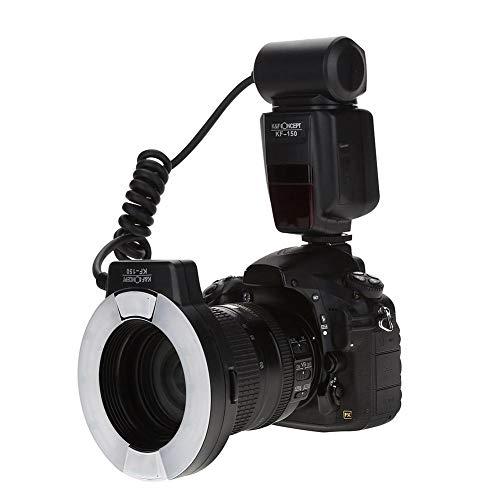 Ringblitz für Canon Nikon Panasonic Olympus Pentax SLR Kameras, LED Ring Blitzlicht Ringblitzleuchte Ringblitz KF-150 Enthält Diffusoren mit Adapterringen (52mm 55mm, 58mm, 62mm, 67mm, 72mm, 77mm)