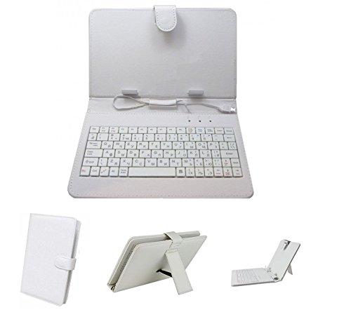 Samsung Galaxy Tab 4 T231 Tablet- 7inch Keyboard Case by Krishty Enterprises - White