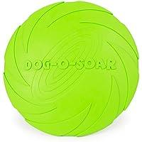 Payxuan Disco Volador para Perro de Goma,Verde Ø 18cm