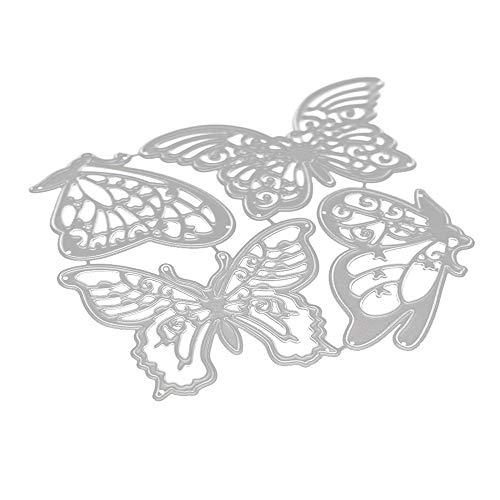 Lazzboy Fustelle Natale Scrapbooking Metallo Stencil Paper Card Craft per Sizzix Big Shot/Altre Macchine(E, Farfalle)