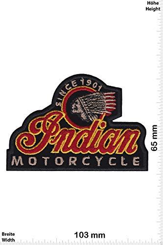 Patch - Indian Motorcycle - Since 1901 -Black - HQ - Motorrad - Motorrad - Indian - Aufnäher - zum aufbügeln - Iron On