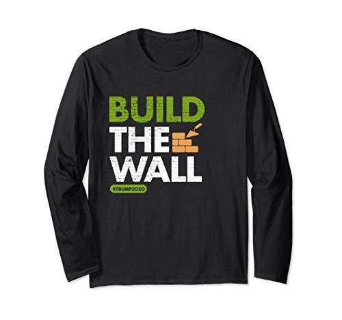 Baue die Mauer! Konservative Pro Trump Rallye Langarmshirt