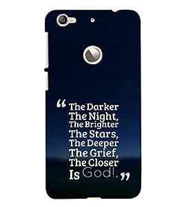 EPICCASE Closer the god Mobile Back Case Cover For LeEco Le 1s Eco (Designer Case)