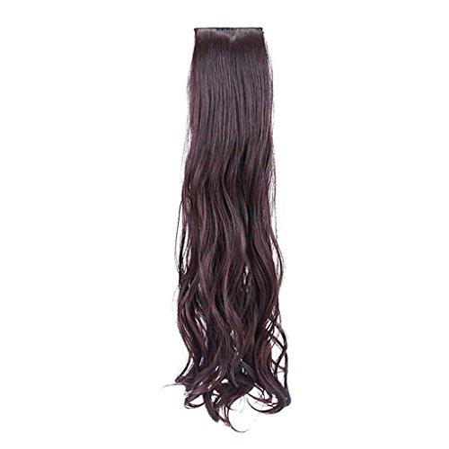Babysbreath Langes lockiges Haar-Verlängerungs-Pferdeschwanz-Haar für Dame-Haarteil-Perücken (keine Pony) Dunkelbraun